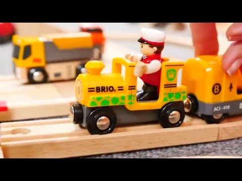 Поезда и машинки - Развивающий видео - Железнодорожный переезд