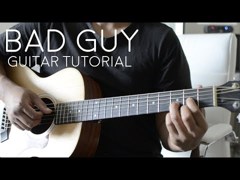 Download Bad Guy by Billie Eilish - Guitar Tutorial Mp4 HD Video and MP3