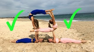 EXTREME YOGA CHALLENGE Older TWINS vs Younger TWINS!