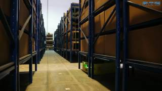 Warehouse Robots in Operation