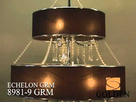 Video for Echelon Chrome Three-Light Pendant with Tuxedo Shade