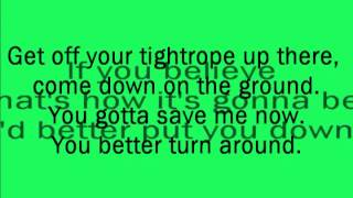 ELO - Tightrope (Lyrics)