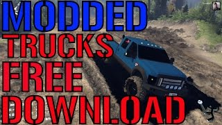 HOW TO DOWNLOAD SPIN TIRES TRUCK MODS FOR FREE!MODDED TRUCKS 2017