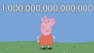 "Peppa Pig Says ""I'm Peppa Pig"" 1,000,000,000,000,000 times"