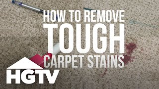How to Remove Tough Carpet Stains | HGTV