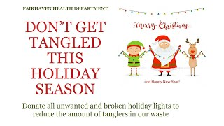 Holiday Lights Recycling PSA