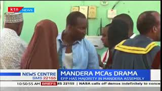 Drama in Mandera County Assembly after Jubilee members started blowing whistles in protest