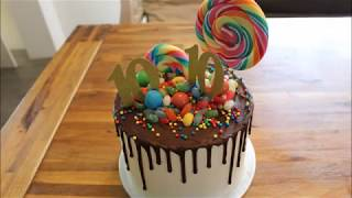 Easy Candy Birthday Cake Tutorial