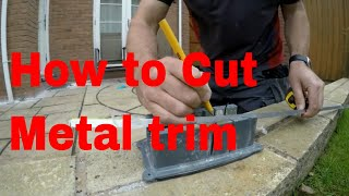 How to cut metal Trim