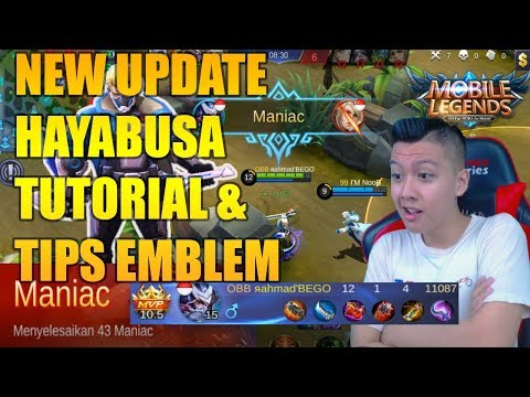 HAYABUSA NEW UPDATE TUTORIAL + TIPS EMBLEM - Mobile Legend Bang Bang