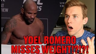Yoel Romero Misses Weight for UFC 225 - Are You Kidding!?!?!
