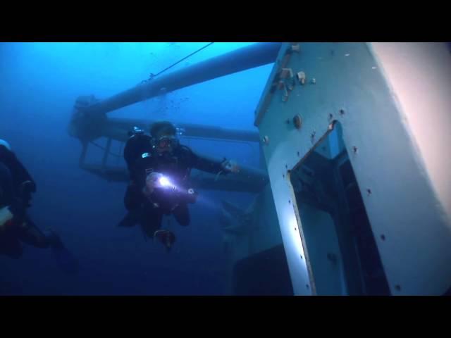 ex HMAS Adelaide Artificial Reef Dive First Look Underwater...!