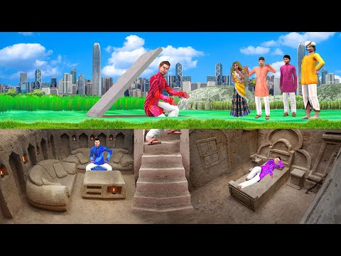 Download भूमिगत घर Lockdown Underground House Comedy Video हिदी कहानिय Hindi Kahaniya Stories Funny Video HD Mp4 3GP Video and MP3
