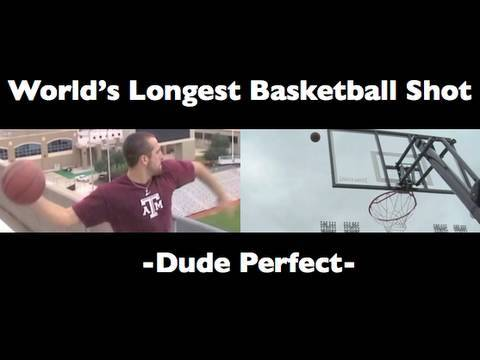 World's Longest Basketball Shot | Dude Perfect