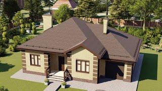 Проект дома 144-E, Площадь дома: 144 м2, Размер дома:  17x11,8 м