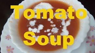 Howto make Restaurant Style Tomato Soup at home/ Homemade Tomato Soup recipe hindi -monikazz kitchen
