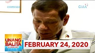 Unang Balita sa Unang Hirit: February 24, 2020 [HD]
