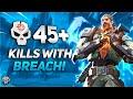 Aggressive 45 Kill Game With Breach Valorant Match High