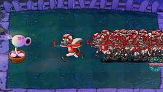 Plants Vs. Zombies Hack - Peashooter Hypno-shroom Vs 999 Football Zombie
