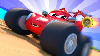 Monster Town - The Monster Town Olympics  | Monster Trucks Cartoon for Children