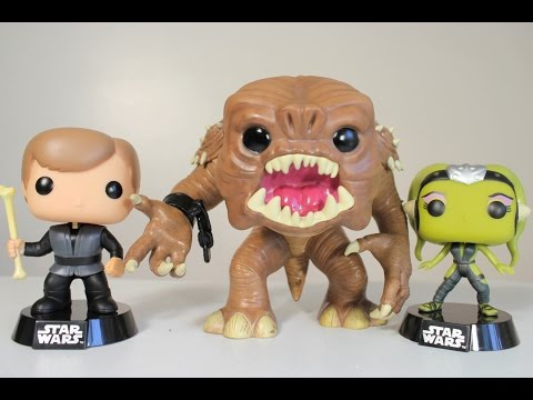 Figurine - Pop! Movies - Star Wars - Rancor Luke Skywalker Slave Oola - Vinyl -