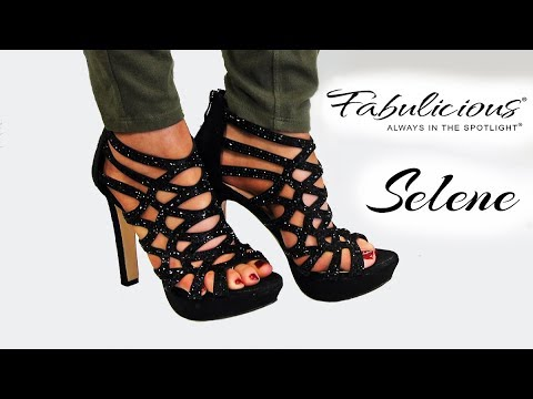 Review Fabulicious SELENE 24 Formal Evening 4.5 Inch High Heels with Rhinestones