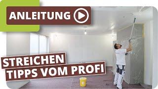Decke & Wände streichen  - Tipps und Tricks vom Profi