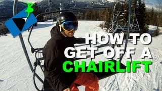 #19 Snowboard begginer – How to get off a ski lift while snowboarding