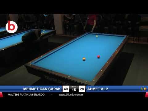 MEHMET CAN ÇAPAK & AHMET ALP Bilardo Maçı - PLATINUM BİLARDO TAKINI CUP 2019-ÇEYREK FİNAL
