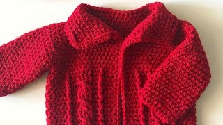 Crochet Cable Baby Sweater Video