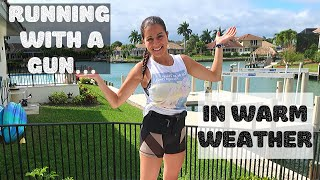 RUNNING WITH A GUN IN HOT WEATHER | How I carry in a belly band during a run in the heat!