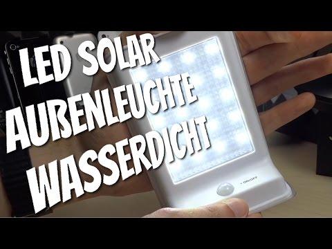 LED SOLAR LICHT mit Bewegungsmelder im Test Review Außenbeleuchtung