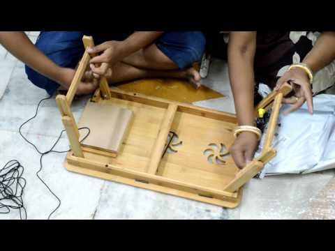 Unboxing of Multipurpose Foldable bamboo wood Laptop table and study table