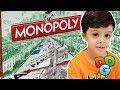 Jogando Monopoly Tabuleiro