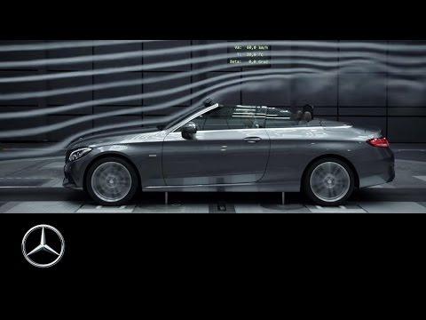 The new C-Class Cabriolet - aerodynamic also top down - Mercedes-Benz original