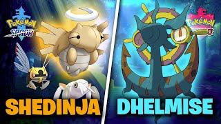 Dhelmise  - (Pokémon) - COME OTTENERE SHEDINJA e DHELMISE - Pokemon Spada e Scudo ITA