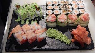 Смотреть онлайн Как приготовить разные роллы и суши дома