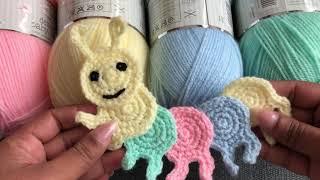 Crochet Caterpillar/ Crochet Blanket Appliqué