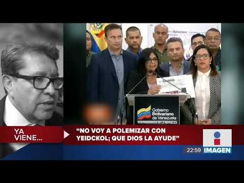 """Vicepresidenta de Venezuela dice que ayuda humanitaria """"esta envenenada, son armas biologicas"""""""