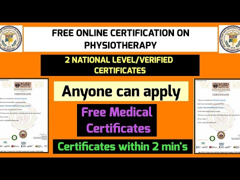 Free 2 Online Physiotherapy Certificates | National Level/Verified ...