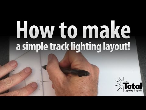 How to make a simple Track Lighting Layout Video 1