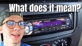 Kenwood stereo settings explained