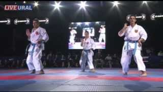 preview picture of video 'Kata Team male Seniors FINAL Karate1 Premier League, Tyumen 2013'