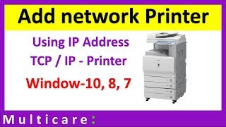 How to install network printer in windows 10