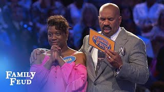 Can the Curneys get to $40,000 in Fast Money? | Family Feud - dooclip.me
