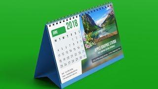 How To Design Professional Photo Calendar - Photoshop Tutorial