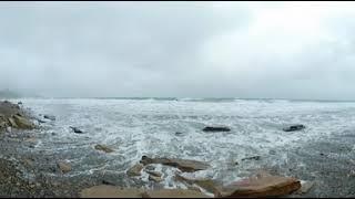 Штормовое море в Анапе - Видео 360°.