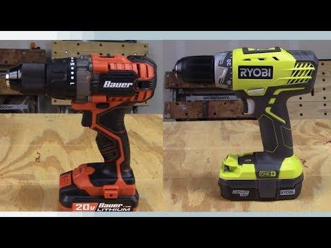 Bauer Drill vs Ryobi Drill Comparison
