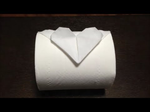 Toilet Paper Origami Heart