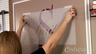 How To Stencil A Monogram On A Wall